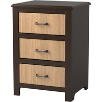 Evanston 3-Drawer Bedside Cabinet with Two-Tone Finish