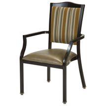Maxwell Thomas Macon Faux-Wood Metal Dining Chair