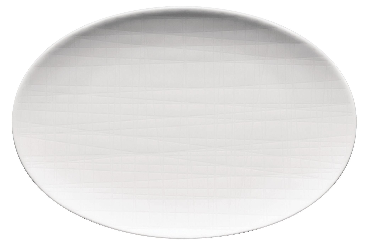 flat oval long platter