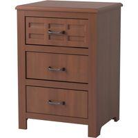 Evanston 3-Drawer Bedside Cabinet