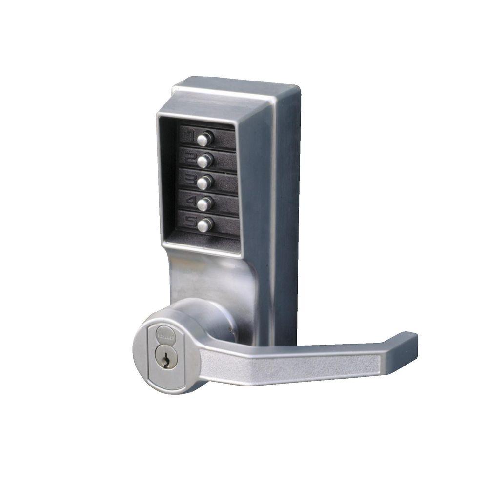 Push-Button Combination Door Lock w/ Lever Handle (22023) | Direct
