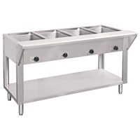 Piper Basic Hot FourWell Steam Table F Direct Supply - Three well steam table