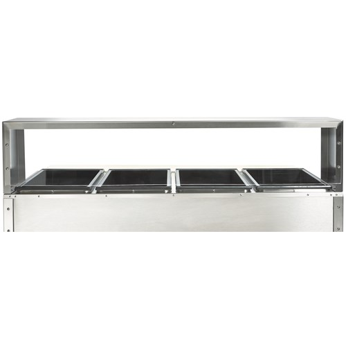 Cafeteria SingleDeck Sneeze Guard For FourWell Steam Table - Cafeteria steam table