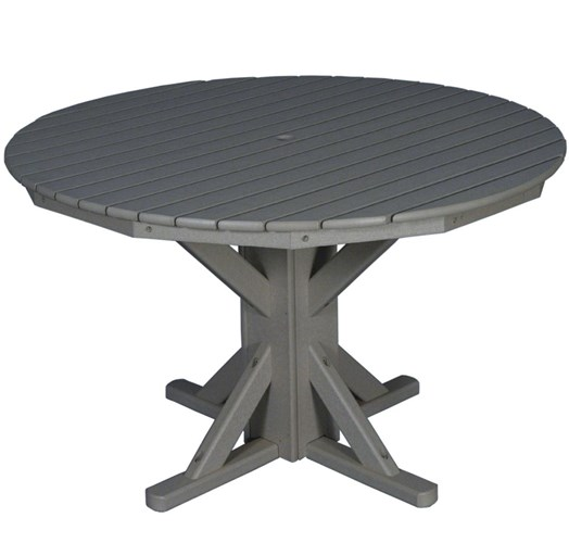 "Round Pedestal Dining Table 48 48"" round pedestal dining table, hdpe (54714) 