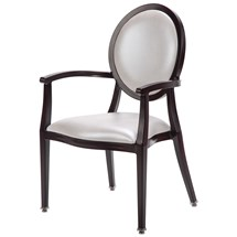 Maxwell Thomas Gainesville Faux-Wood Metal Dining Chair