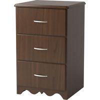 Williamsburg 3-Drawer Bedside Cabinet