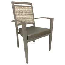 Maxwell Thomas Denio Faux-Wood Metal Dining Chair