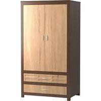 Evanston 2-Door/2-Drawer Wardrobe with Two-Tone Finish