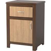 Evanston 1-Door/1-Drawer Bedside Cabinet with Two-Tone Finish