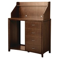Montreal 4-Drawer Hospitality Station with Hutch