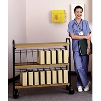 standard mobile chart rack vertical storage holds 30 4 binders 5