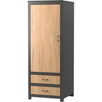 Evanston 1-Door/2-Drawer Wardrobe with Two-Tone Finish