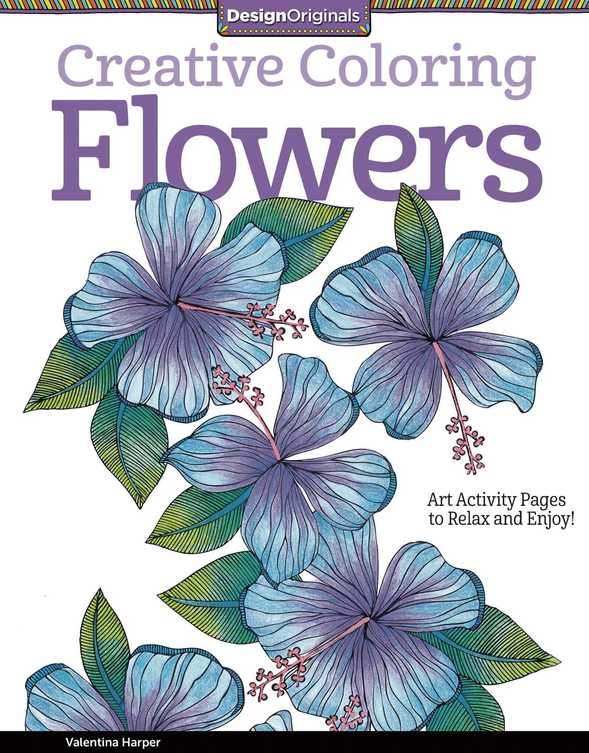 - Adult Coloring Book - Creative Coloring Flowers (8VB27) Direct Supply