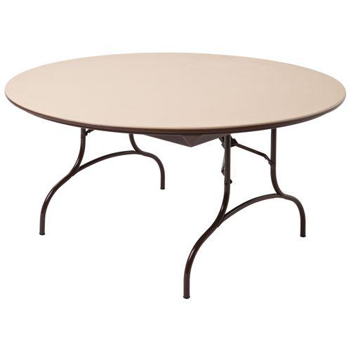 Fine Mitylite Abs Round Folding Table With Wishbone Leg 60W X Interior Design Ideas Gentotryabchikinfo