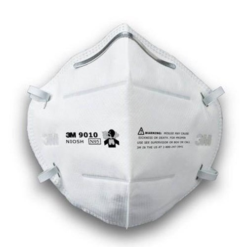 3M 9010 N95 Folded Disposable Respirator (NIOSH Approved)