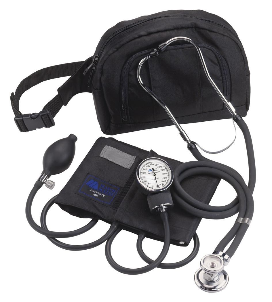 aneroid manometer. matchmates fanny pack with sprague stethoscope and aneroid cuff manometer