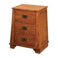 Oak Park 3-Drawer Bedside Cabinet