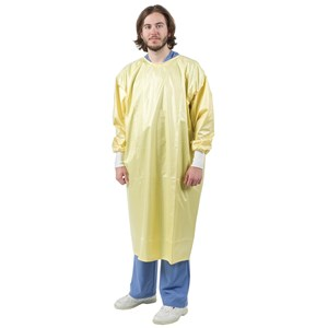 Direct Supply® Reusable Isolation Gown, Polyester and Carbon, AAMI Level 1 Gown