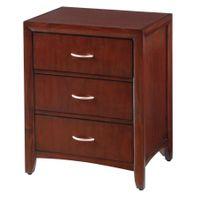 Montreal 3-Drawer Bedside Cabinet