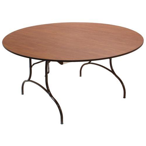 Terrific Mitylite Madera Round Folding Table With Wishbone Leg 60 Interior Design Ideas Gentotryabchikinfo