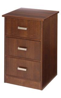 Quick-Ship Cavallino 3-Drawer Bedside Cabinet