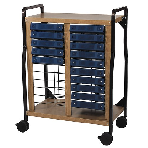 Standard Mobile Chart Rack Flat Storage Holds 20 Binders