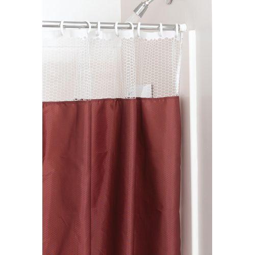 Nylon Shower Curtain With Mesh 42