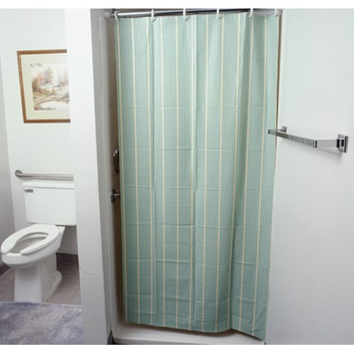 Vinyl Shower Curtain With Mesh 36W X