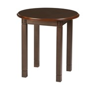 Baxley Round End Table with Laminate Top