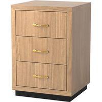 Napoli 3-Drawer Bedside Cabinet
