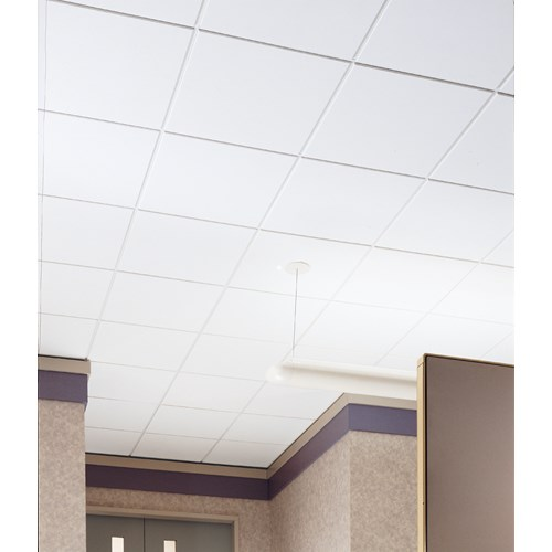 Ceiling Tile Dune Fine Texture HumiGuard X X Square - Cleanable ceiling tiles
