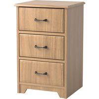 Elkhart 3-Drawer Bedside Cabinet