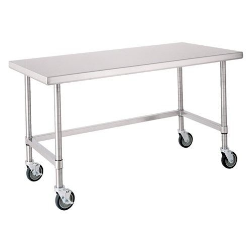 Stainless Steel Mobile Prep Table, 72