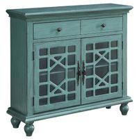 Mount Rainier 2-Drawer/2-Door Cabinet in Bayberry Blue